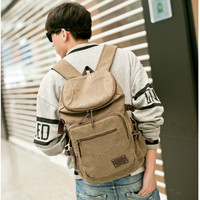 2017 New Brand Man S Canvas Backpack Travel Student Schoolbag Male Men Big Large Capacity Rucksack
