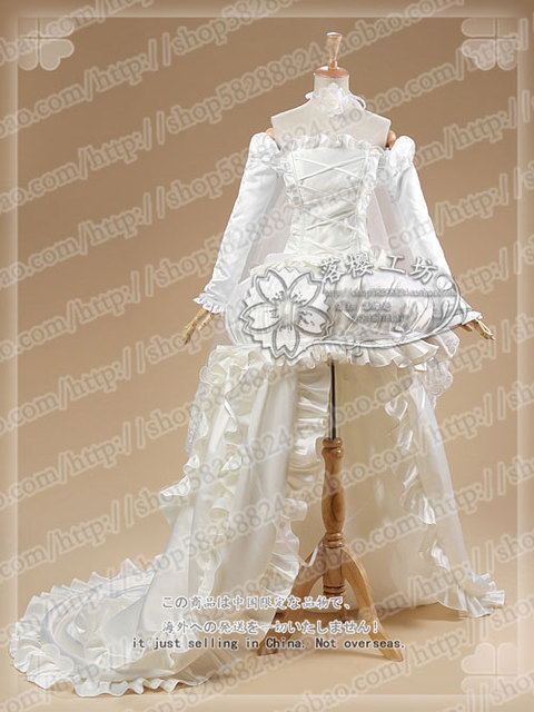 Chobits Chii Illustration White Wedding Dress Cosplay Costume Halloween  Party Luxury Dress Uniform Outfit Custom-made 6b732d2a6604