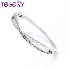 9ed5487a0d2f TOGORY joyería de moda Star círculo Cubic Zirconia Charm pulseras y  brazaletes Europea diamantes de imitación pulsera de Pandora.