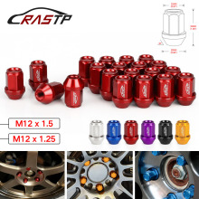 RASTP- M12x1.5/M12x1.25 Racing Tuning Wheel Nuts Forged 7075-T6 Aluminum Lug 35mm Lock RS-LN045