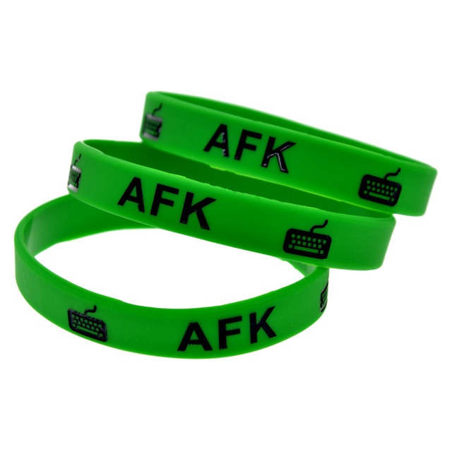 100PCS/Lot LOL AFK Silicone Wristband Promotion Gift