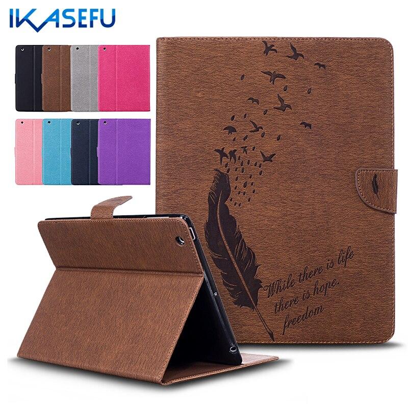 IKASEFU Filp Stand Cover For Apple iPad 2 3 4 9.7 inch Coque Fundas PU Leather Case for ipad 234 ipad3 ipad2 ipad4 tpu back Soft косметическое зеркало двустороннее x2 sorcosa plain хром sor 002