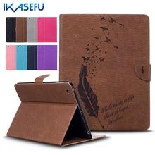 Ikasefu filp couverture de stand pour apple ipad 2/3/4 9.7 pouce coque fundas pu en cuir case pour ipad 234 ipad3 ipad2 ipad4 tpu arrière souple