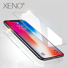 9H Front Cover Tempered Glass XR 5S SE 7Plus 4S For iphone XS MAX X 8 7 6 6S Plus 8plus back Glass Screen protector Protective rinco protective clear pet front back screen guard films set for iphone 4 4s