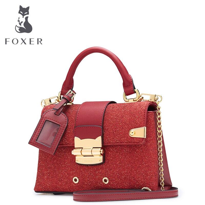 FOXER Brand Women' Leather Handbags Fashion Crossbody Bag & Messenger Bag & Shoulder Bag For Lady Handbag Classic Bag for Girl foxer brand 2018 women leather crossbody bag
