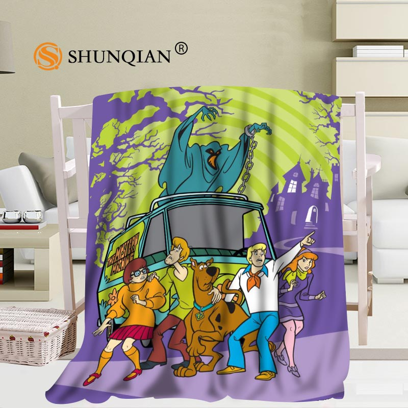 #JQK333J Custom Scooby Doo Pattern Travel Blanket Home TV Casual Relax for Family Soft Fluffy Warm Blanket image