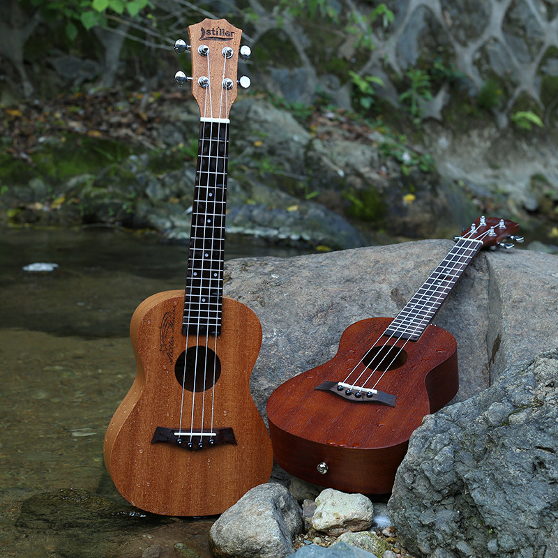Mahogany  Neck Acoustic Electric Ukulele 23 Inch Guitar 4 Strings Ukelele Guitarra tenor concert acoustic electric ukulele 23 26 inch travel guitar 4 strings guitarra wood mahogany plug in music instrument