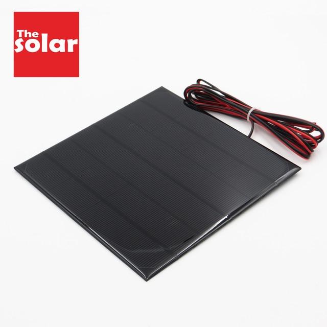 전원 은행 배터리 전화 충전기 6V dc 태양 전지 패널 미니 태양 광 시스템 DIY 0.6W 1W 1.1W 2W 3W 3.5W 4.5W 태양