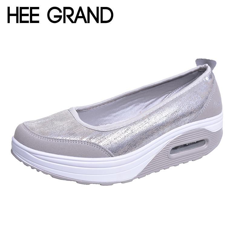 HEE GRAND Vrouw Flats Platform PU Katoen Patchwork Schudden Dikke Bodem Heldere Kleur Schoenen Vrouw Lente Plus Size 35-41 XWR080