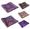Pañuelo 100% de satén de seda Natural para hombre del pañuelo de moda banquete de boda Classic Pocket Square # n10 - 11