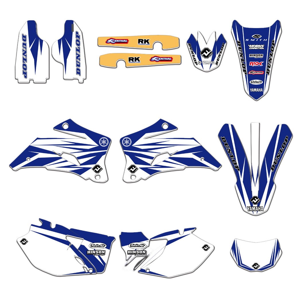 New Complete Set TEAM Graphics Decal Sticker Deco For Yamaha WR250F WR450F 2007 2011 WR250F 2012