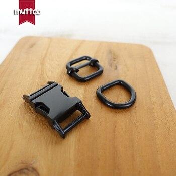 50sets/lot (metal buckle+adjust buckle+D ring/set)Contoured side release buckle 15mm bag backpack leather craft  diy accessory