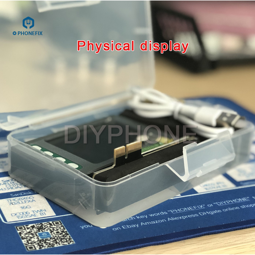 PHONEFIX Battery Test Box For Apple IPhone IPad With Battery Data Cable Test Board Battery Status Tester One Key Clear Cycle