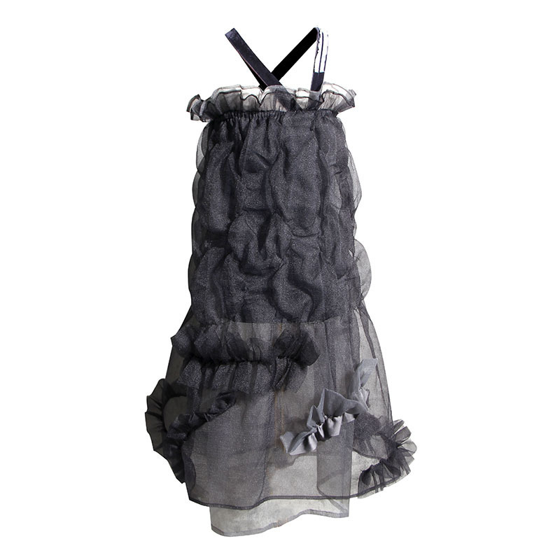 Dentelle De luxe hors épaule robe 2019 piste été à volants Spaghetti sangle robes Designer mode vêtements Goth Vestidos De Mujer