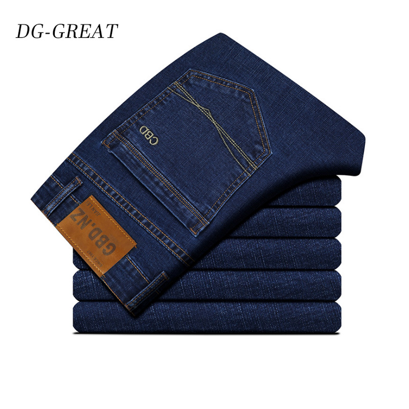 2019 New Cotton   Jeans   Men High Quality Famous Brand Denim Trousers Soft Mens Pants Autumn   Jean   Fashion Large Size Business   Jean