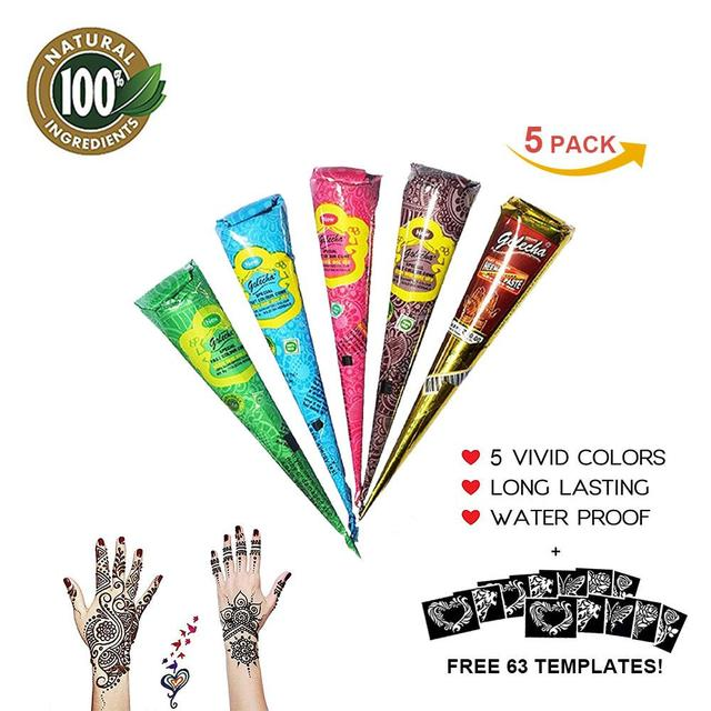 Aliexpress.com : Buy 5 packs Natural Herbal Temporary Tattoo Kit ...