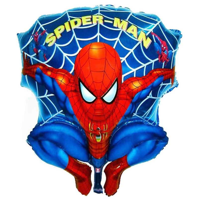 60x50cm foil balloons spiderman toys party decoration character cartoon superhero spiderman birthday balloons