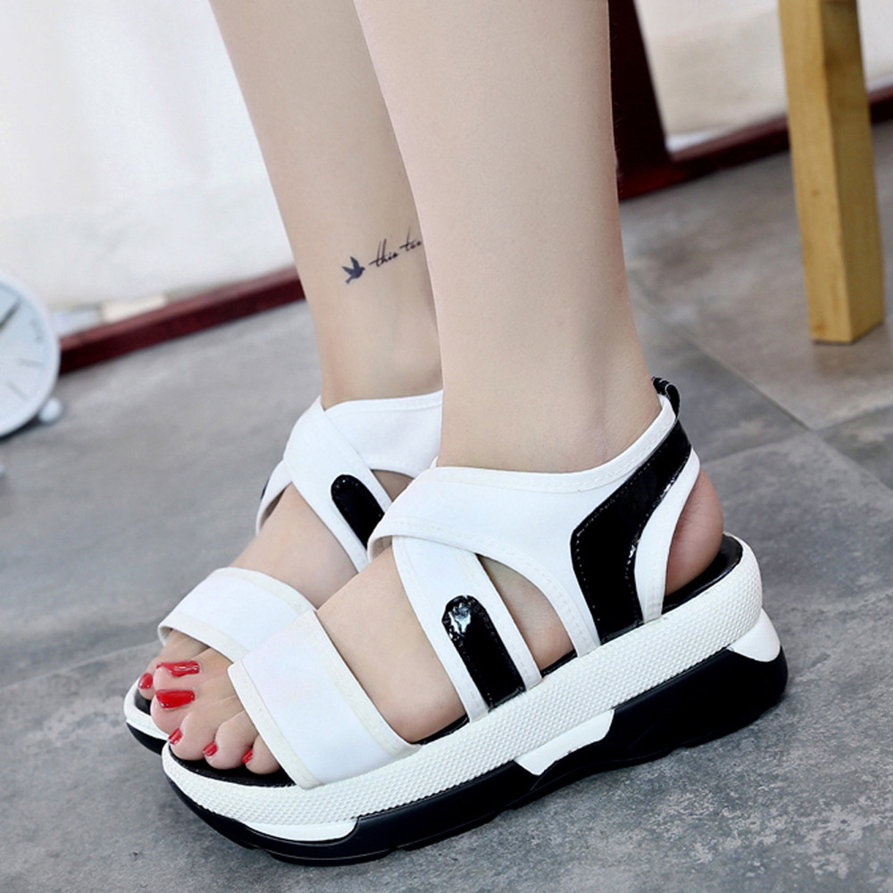 Women's Sandals Summer Flip Flops Casual Breathable Female Comfort Shoes Wedges Sandals Platform Shoes Gladiator Sandalias Mujer phyanic 2017 gladiator sandals gold silver shoes woman summer platform wedges glitters creepers casual women shoes phy3323