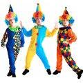 Niños Niños Bebé Monos y Mamelucos + Sombrero de Halloween Carnaval Fiesta de Disfraces Cosplay Ropa del Funcionamiento del Payaso de Circo de Navidad