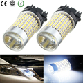 2x 1200LM 3014 144 LED T25 Brake Bulb Stop Light W21/5W Head Fog Driving Lamp 12V 3157 Car Daytime Running Lights White