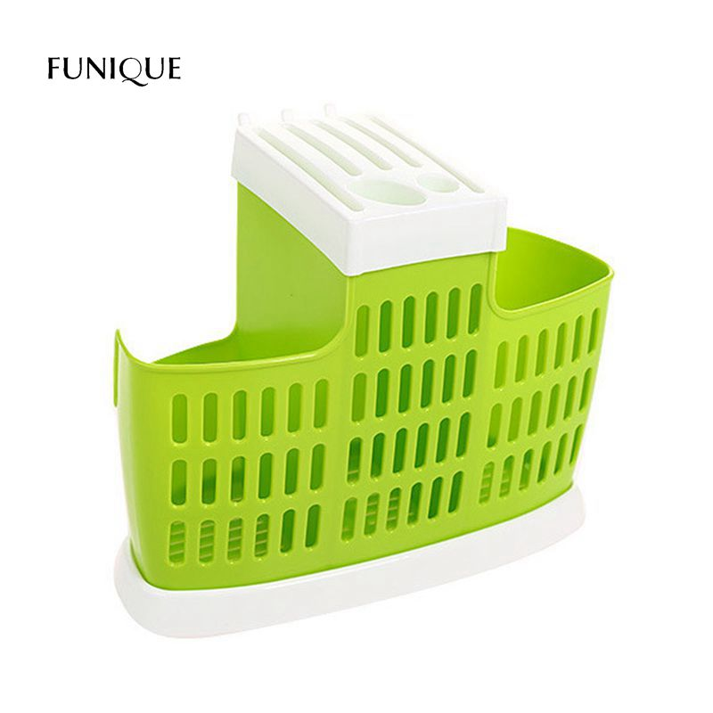 FUNIQUE Creative Kitchen Multi-purpose Plastic With Knife Holder Chopsticks Chopsticks Cage Drain Rack Knife Fork Storage Rack