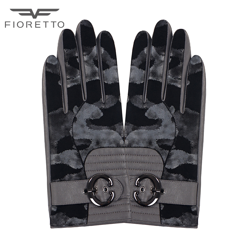 533c2ce63368c FIORETTO Women Touchscreen Leather Gloves Camouflage Winter Warm Genuine  Leather Mittens Thermal Lined Driving Gloves Buckle-in Women's Gloves from  Apparel ...