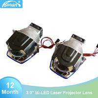 Ronan 3 inch led laser car headlight with bi led projector lens 35W for LED, 10W for laser with import 500NA auto led lights