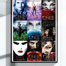 Коллекция персонажей мультфильма Once Upon A Time, постеры в стиле ретро, ВИНТАЖНЫЙ ПЛАКАТ из крафт-бумаги, холст, наклейка на стену, украшение дома, подарок