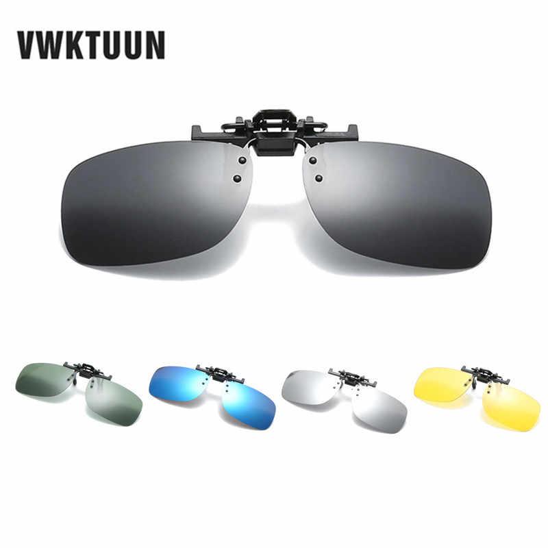 48d68638ad VWKTUUN Plaza Clip polarizado gafas de sol de los hombres de las mujeres de  gran tamaño