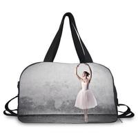 duffle bag with large capacity sports bag ballet dancer travel bag shoes holder bag for ballet yoga and gym use
