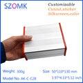 1 шт. Экструзии алюминия распределительная коробка электроники в серебристый цвет с силиконовой кольца/прокладки 50 (H) x110 (W) x130 (H) мм