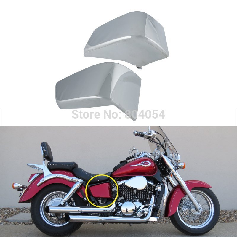 ФОТО Chrome Battery Side Fairing Cover Metal Fit For Honda Shadow ACE VT 750 1997-2003