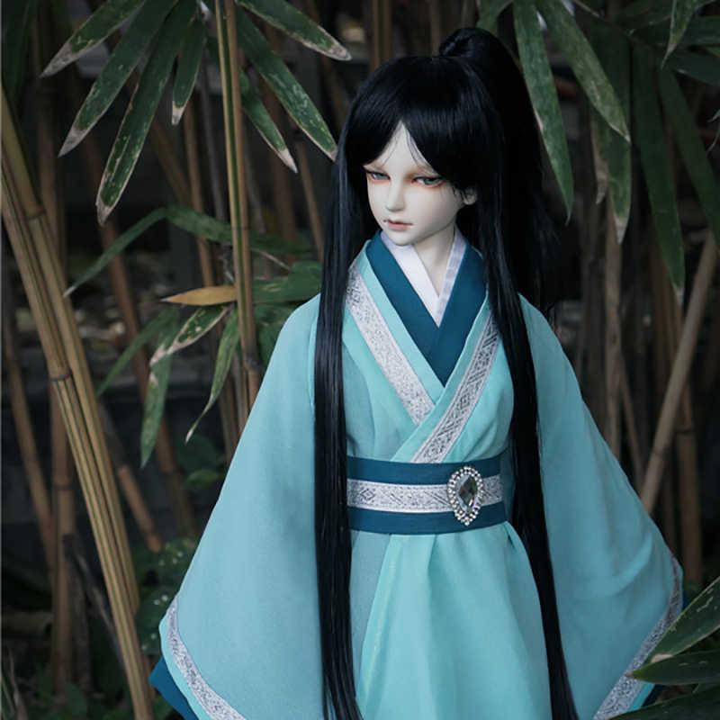 Cataleya BJD SD кукла парик черный с конским хвостом длинные прямые волосы бесплатная доставка