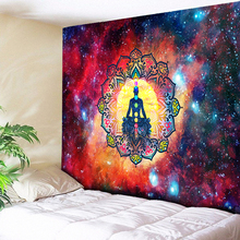Kaleidoscope Mandala Tapestry Wall Hanging Boho Hippie Psychedelic Chakra Elegant Galaxy Decor Cloth Yoga