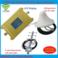 LCD display new model CDMA 980 850Mhz signal booster repeater amplifier Coverage 2000 Sqs+yagi antenna+Ceiling antenna+3m cable