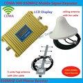 Pantalla LCD nuevo modelo CDMA 980 850 Mhz Cobertura amplificador de señal del repetidor del amplificador 2000 Sqs + antena yagi + Techo antena + 3 m cable