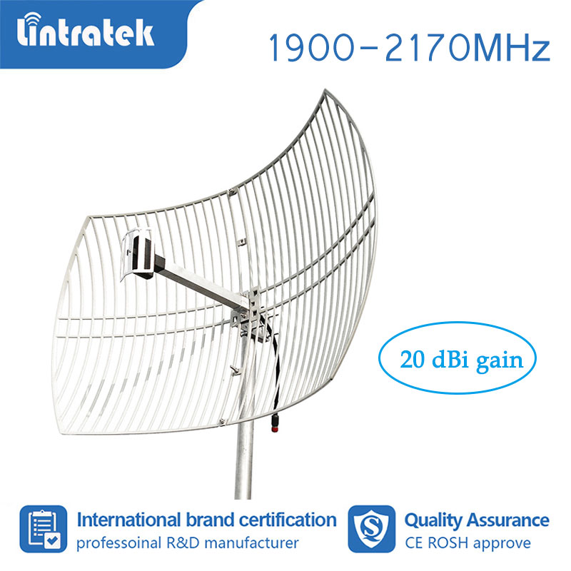 20dBi Strong Grid External Antenna 3G Outdoor Antenna For PCS 1900 WCDMA 2100 MHz Mobile Signal Booster Repeater Amplifier#7