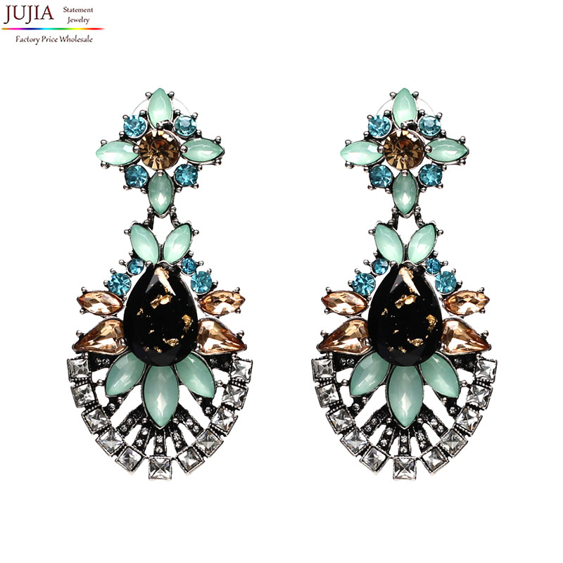 New Arrival Hot Earring good quality Jewelry Crystal Multicolor Lovely Special Bohemia Big Earrings for Women