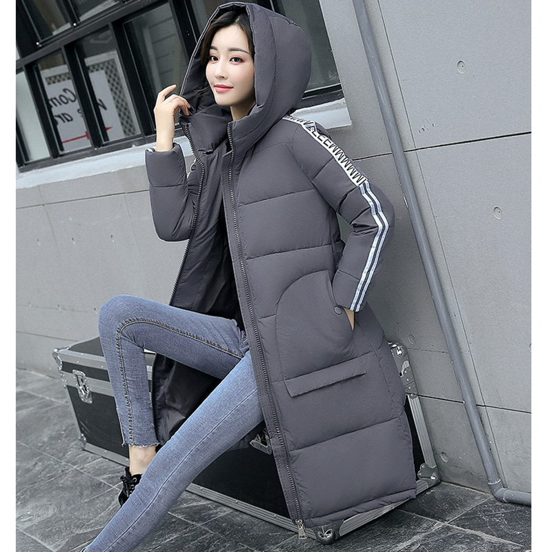 2017 NEW HOT WOMEN WINTER JACKER PLUS SIZE MID-LENGTH PLUS SIZE HOODED THICK WARM FEMALE PARKAS COTTON WADDED COAT ZL572