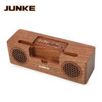 Stereo Wooden Carved Bluetooth Speaker Portable HiFi Speakers TF Play Hand Free Call Super Bass Loudspeaker Computer Column JKP2