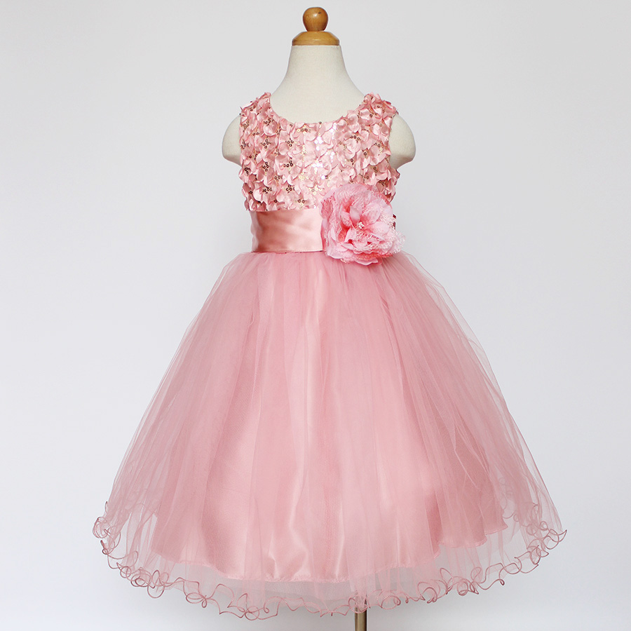 New Summer Rose Flower Girl Princess Dress Red Pink Sleeveless Kids Pageant Wedding Dress Tulle Baby Girls Party Birthday Dress new 2016 fshion flower girl dress kids clothing party wedding birthday girls dresses baby girl white pink rose dress