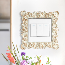 Resin Switch Sticker Pastoral Home Light Cover Square Flower Pattern Wall Socket Stickers Decor For decor