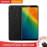 Глобальная версия lenovo K9 Note 4 GB 64 GB Snapdragon 450 Octa Core 6 дюймов Face ID Android 8,1 16MP Камера 3760 мАч для смартфонов