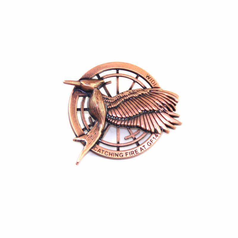 Tiang Antik Dekoratif Kerah Pin Pembuat Di Cina Burung Logo Kerawang Plating Lencana K200330
