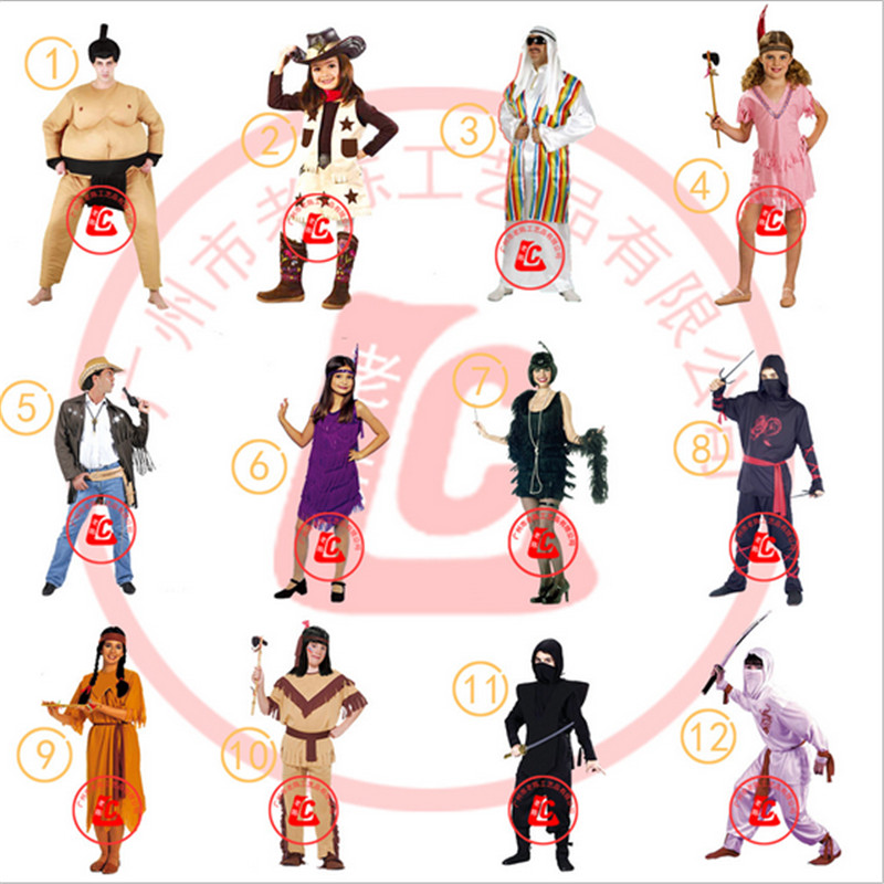 Cowgirl Cowboy Costume Japanese sumo Arab Cosplay clothing Police in West 2016 new pirate Carnival Party costumes Halloween