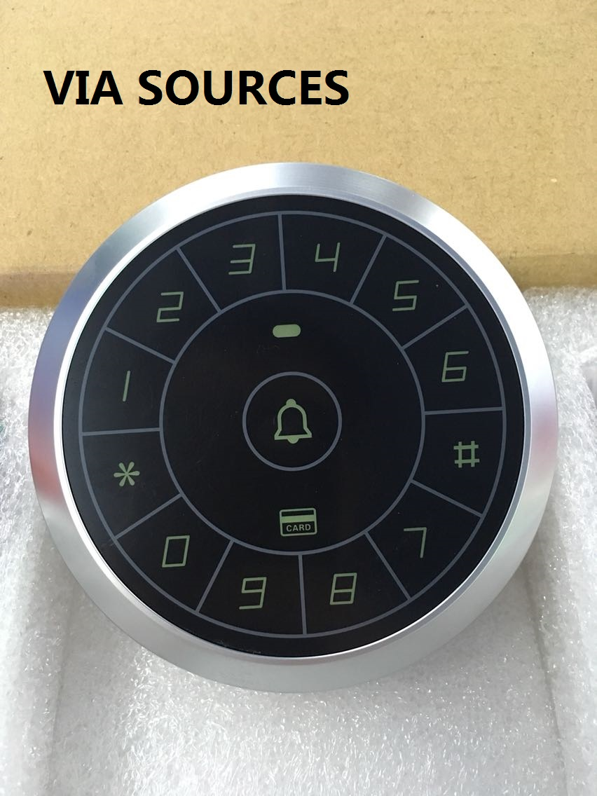 Direct Factory Circular Touch Button 125KHz Rfid Card Reader Door Access Controller System Password Keypad C80 original access control card reader without keypad smart card reader 125khz rfid card reader door access reader manufacture