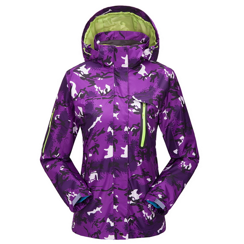 ФОТО Women Winter Spring Two-Piece Suit Larger Size Jacket Outdoor Jackets Breathable Waterproof Jacket Climbing Camping Coat 1557