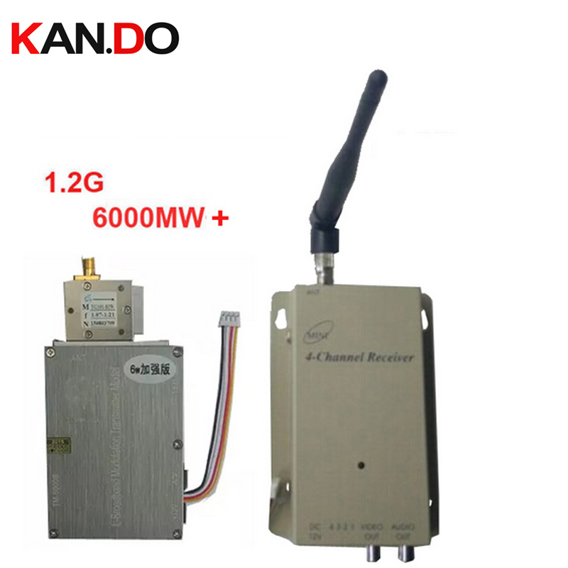 6000Mw+ Made in Taiwan 1.2G Video Audio transceiver,video Transmitter Receiver kits 1.2G transceiver FPV transmitter drone tx made in taiwan 5000mw new cctv transmitter 1 2g wireless transceiver 1 2g video audio transmitter receiver cctv fpv transmitter