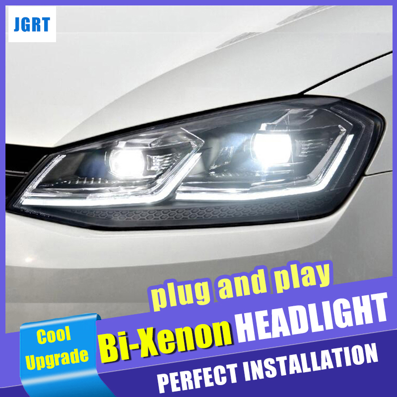 for Golf 7 5 Headlights 2017 2018 For Golf 7 Facelift head lamp Double Beam HID