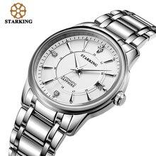 Starking mens reloj automático tourbillon zafiro ginebra todos am0175 de negocios 2016 de la marca de lujo viste el reloj de pulsera de acero inoxidable